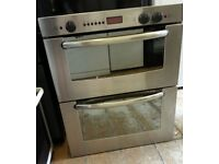 Stainless Bosch built under double oven
