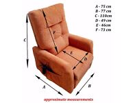 Riser - recliner armchair with single motor