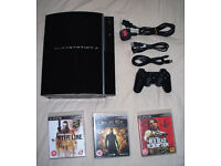 PS3 Playstation 3 160gb hdd, Dualshock 3 sixaxis controller and 3 games!!
