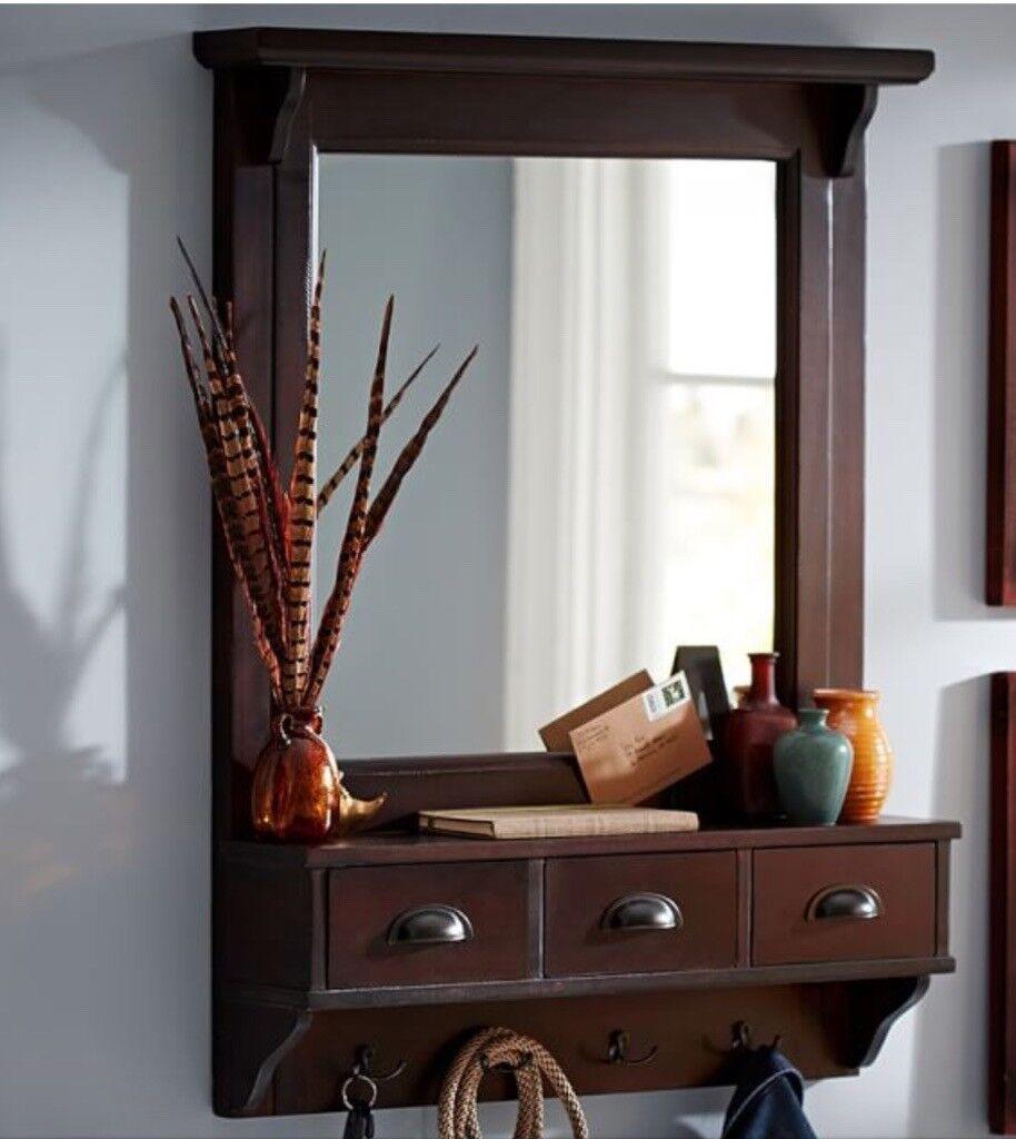 Hall Mirror Organizer + Matching Shoe Rack