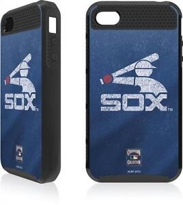 Chicago White Sox Cooperstown Distressed Skinit Cargo Case Apple iPhone 4 4S