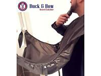 Buck&Bow Beard Shaving, Hair and Clippings Catcher Bib - Less Mess, Neat Beard, Gift for Him