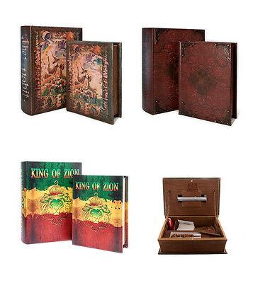 Original Kavatza Deluxe Rolling Box Wooden Book Secret Stash Tray - Small/Large