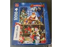 King 1000 piece jigsaw. Santa's Desk