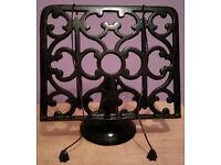 Heavyweight Ornate Black Cast Iron Cook Book Stand Recipe Holder
