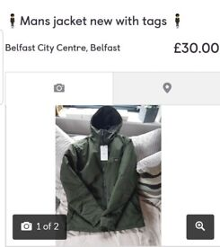 🕴New with tags mens winter jacket🕴