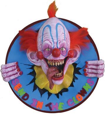 Evil Send in the Clowns 3D WALL PLAQUE HALLOWEEN Prop Decor HAUNTED HOUSE SPIRIT](Spirit Halloween Clown Prop)
