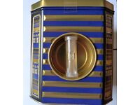 A Sand Timer Tea Caddy with Unusual Egyptian Hieroglyphics Design BRAND NEW