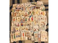 JOB LOT OF 50 SEWING PATTERNS, VINTAGE (FROM 1960's) & MODERN DAY (lot 1)