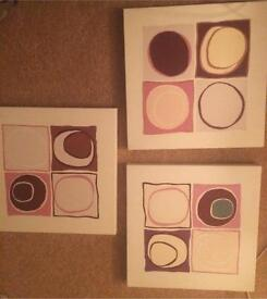 Three Canvases for sale