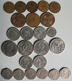 Isle of Man coins, 75p - £1.50 each