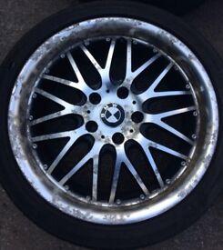 "18"" Calibre Spur BMW 3 Series E36 E46 E90 Alloy Wheels & Tyres 225/40R18 5x112 Fits 1 Series, Z3 Z4"
