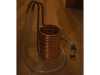 Copper wort chiller for home brew