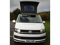 2016 VW Transporter T6 Camper van, VW Warranty, Pop Top Roof, BlueMotion NEW SHAPE t5