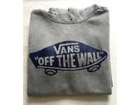 "Vans Kid's ""Off The Wall"" grey hoodie, size medium. Used, but in good condition."