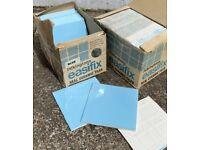50 x PILKINGSTON's 1960s EasiFix Real Ceramic Baby Blue Tiles 11cm square