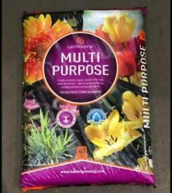 Growmoor Multi Purpose Compost 40 litres x 3 bags £10