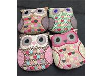 Collection of Sass & Belle Owl Cushions in good condition £20