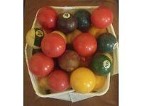 37 various Pool Balls