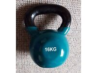 16kg vinyl coated kettlebell / kettle bell