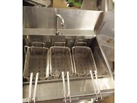 TAKEAWAY FISH AND CHIPS VALENTINE FRYER MAXI P 94 ELECTRIC CHIPS FRYER WITH PUMPED OIL FILTRATION