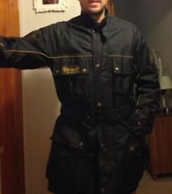 Belstaff wax cotton medium motorcycle/fashion jacket.