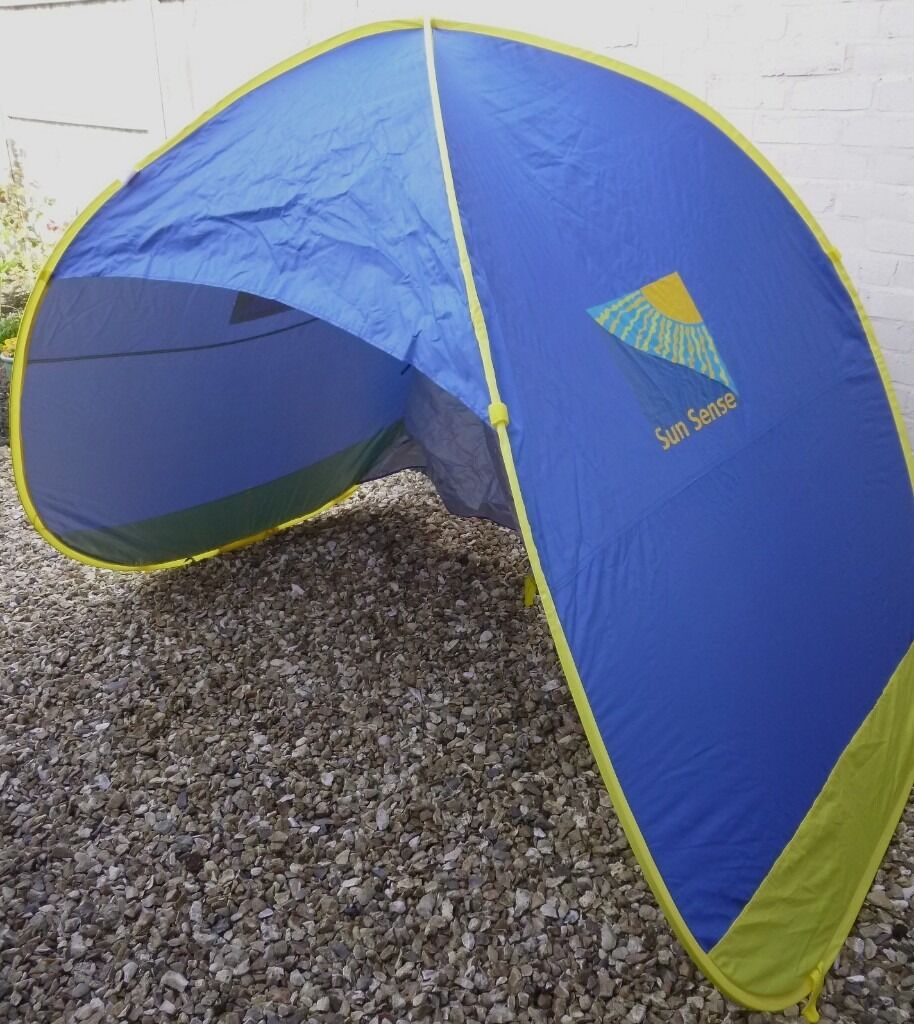As new Sun Sense pop up family sun shelter/tent. Provides 50+ & As new Sun Sense pop up family sun shelter/tent. Provides 50+ ...