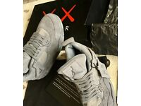 AIR JORDAN 4 RETRO Grey KAWS UK 8/ EU42.5