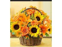 Range of wicker baskets for flower arrangements -suit florist/events manager/personal use