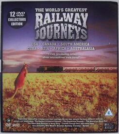 12 DVD COLLECTION OF THE WORLDS GREATEST RAILWAY JOURNEYS – USA