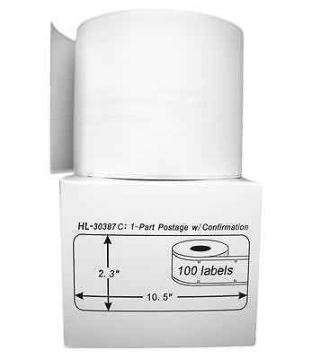 1 Roll of 100 Continuous Internet Postage Labels for DYMO® LabelWriter® 30387 C