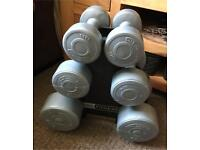 Pro Fitness weights and stand