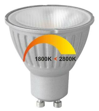 Megaman LED spot MV 6W-50W 828 36D GU10 Dim to Warm -