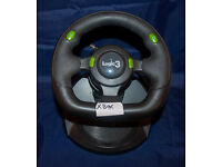 Xbox, Logic 3, Pedals & Mulit Position Steering Wheel. Great Condition. Superb Condition