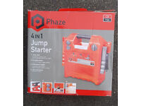 Phaze 4 in 1 Jump Starter, used on two occassions this winter and reboxed