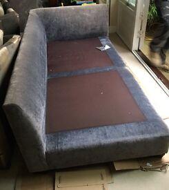 Sofa & Swivel Chair & footstool - large corner sofa, swivel cuddler chair & cushions & footstool.