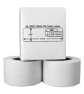 2 Rolls Of 130 File Folder Labels For Dymo Labelwriter 30327 30576
