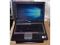 "DELL LATITUDE D630 Intel T7500 Core 2 Duo cpu @ 2.2GHZ 4 gb ram 500 gb hdd 14.1"" LCD Win 10"