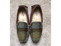 Harris Tweed Mens Slippers size 11