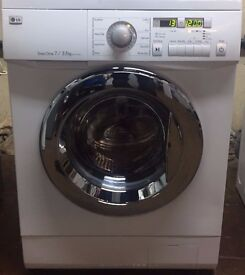 LG WD-12331AD 7/3.5kg 1200 Spin White LCD Sensor Dry Washer/Dryer 1 YEAR GUARANTEE FREE DEL N FIT