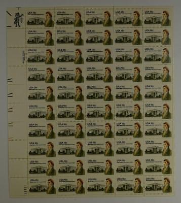 US SCOTT 1935 PANE OF 50 JAMES HOBAN STAMPS 18 CENT FACE MNH