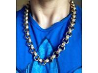 """9ct Gold Belcher Chain, 192g, 24.5"""""""