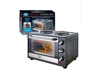 Double hob convection rotisserie oven