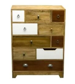British Vintage 10 Tall Chest Mangowood (Rrp £725)