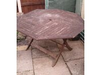 Wood garden table and Chair