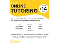 GCSE Maths, Physics, Chemistry & Biology Tutor from £14p/h