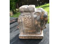 Elephant ornament / ashtray garden or indoors