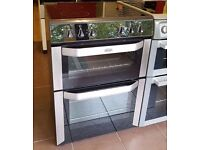 60cm Belling Ceramic Top Cooker, Double Oven/Fan Assisted - 6 Months Warranty