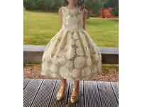 Princess Ivory Prom/Flowergirl Dress