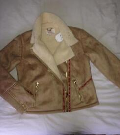 (Brand new) suede winter coat excellent quality!!